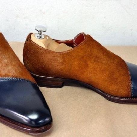 Dual Tone Adorable Patina Suede Leather Handmade Luxury Wear Oxford Perfect Foot Wear Laced Up Terrific Shoes